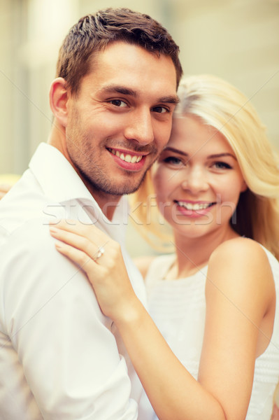 young married couple in the city Stock photo © dolgachov