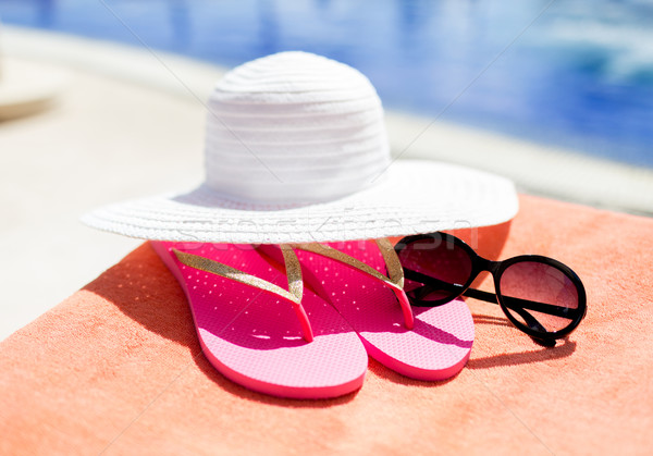 close up of summer accessories Stock photo © dolgachov