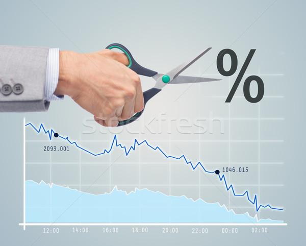 Pénzügyi gazdaságos válság üzletemberek közelkép üzletember Stock fotó © dolgachov