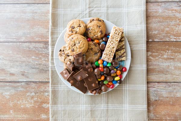 チョコレート ミューズリー クッキー ストックフォト © dolgachov