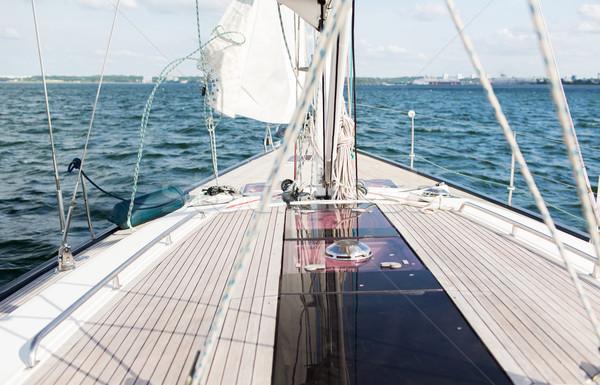 ヨット セーリング ヨット デッキ 海 ストックフォト © dolgachov