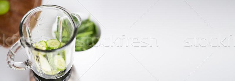 ブレンダー jarファイル 緑 野菜 健康的な食事 ストックフォト © dolgachov