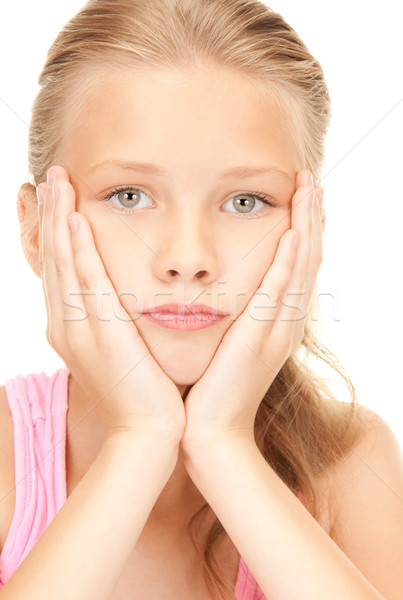unhappy girl Stock photo © dolgachov