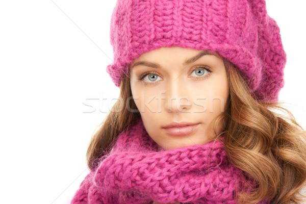 beautiful woman in winter hat  Stock photo © dolgachov