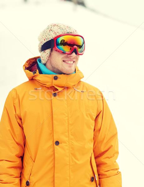 Felice giovane esterna inverno tempo libero Foto d'archivio © dolgachov