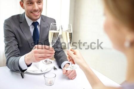 Stockfoto: Mannelijke · homo · paar · champagne · bril