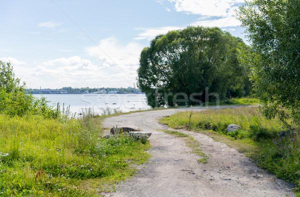 Estrada beira-mar natureza temporada ambiente praia Foto stock © dolgachov