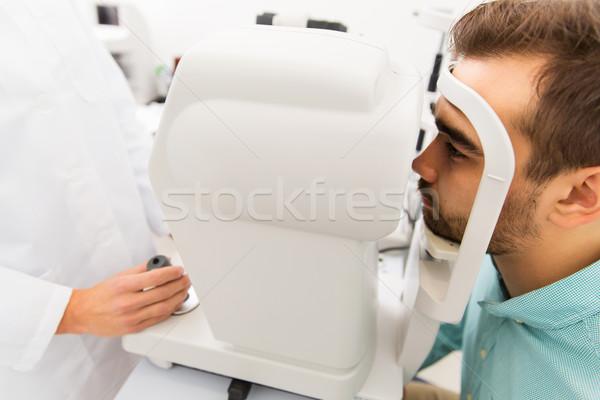 оптик пациент клинике медицина люди Сток-фото © dolgachov