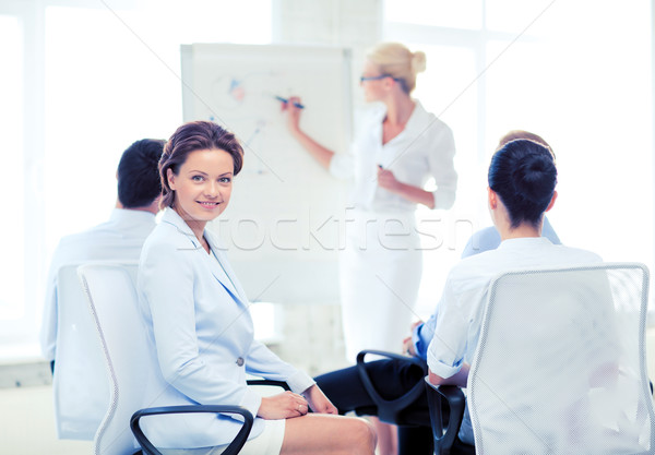 businesswoman on business meeting in office Stock photo © dolgachov