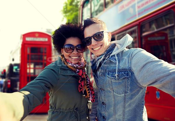 Stockfoto: Gelukkig · paar · Londen · stad