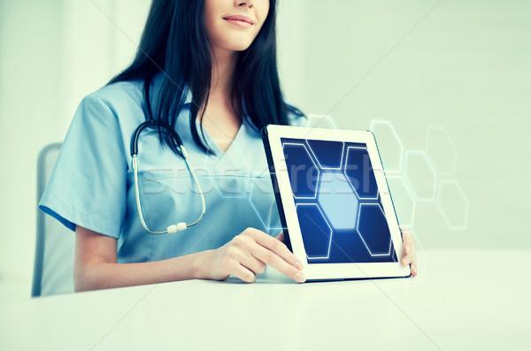 医師 ホログラム 薬 ストックフォト © dolgachov