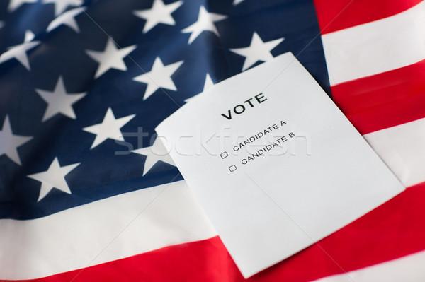empty ballot or vote on american flag Stock photo © dolgachov