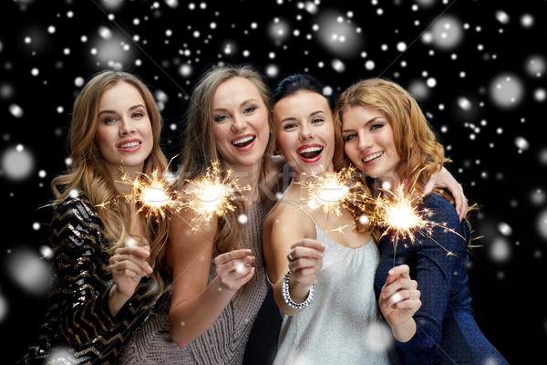 счастливым снега Новый год вечеринка Рождества Сток-фото © dolgachov