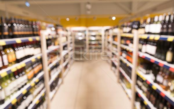 liquor store blurred background Stock photo © dolgachov