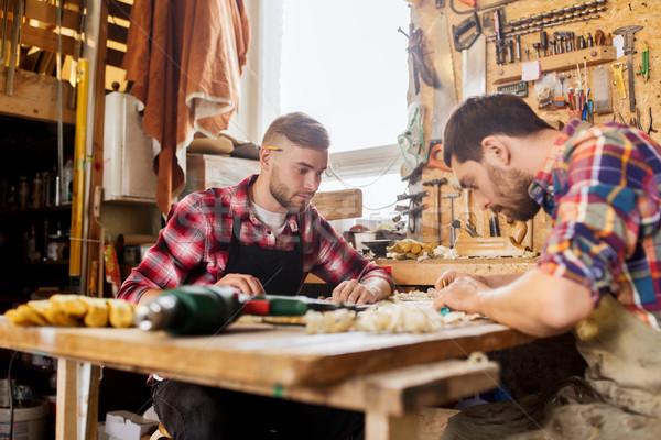 правителя план семинар профессия плотничные работы изделия из дерева Сток-фото © dolgachov