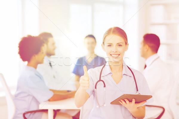 Сток-фото: счастливым · врач · команда · клинике · профессия