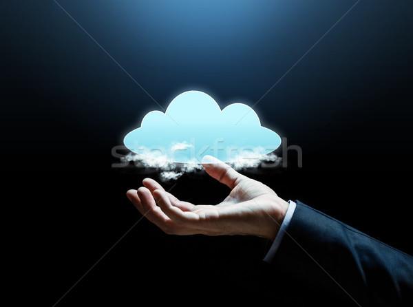 Empresário mão negócio ciberespaço tecnologia Foto stock © dolgachov