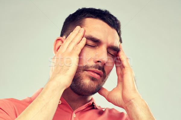 несчастный человека страдание голову боль люди Сток-фото © dolgachov