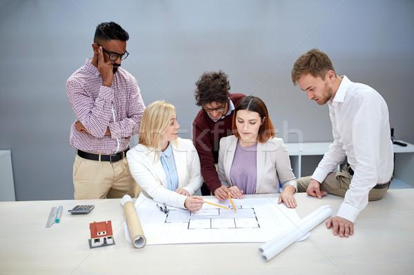 ストックフォト: ビジネスチーム · 家 · プロジェクト · オフィスビル · 建設