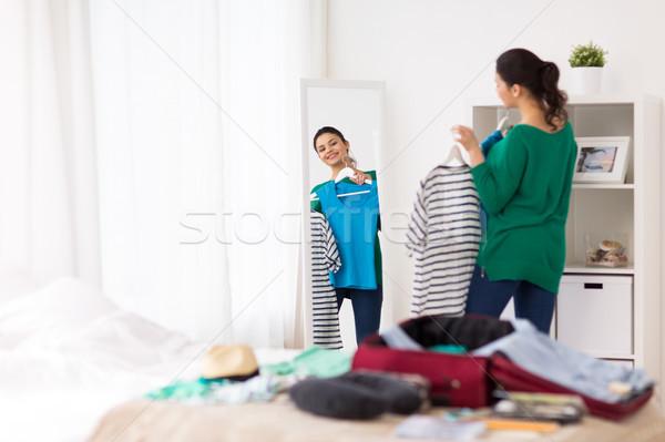 женщину путешествия сумку домой номер в отеле Сток-фото © dolgachov
