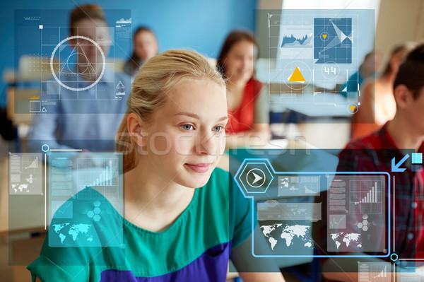 Adolescente élèves école leçon éducation apprentissage Photo stock © dolgachov