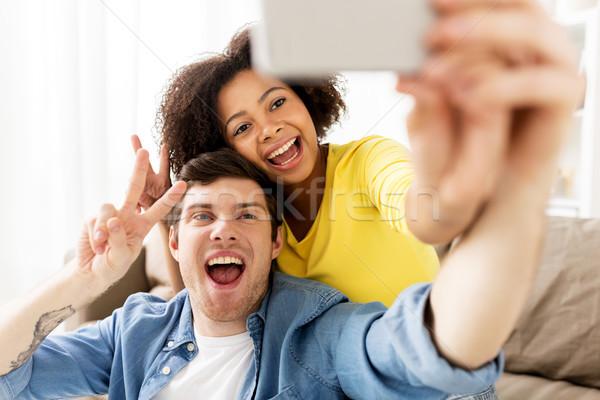 Mutlu çift ev aile Stok fotoğraf © dolgachov