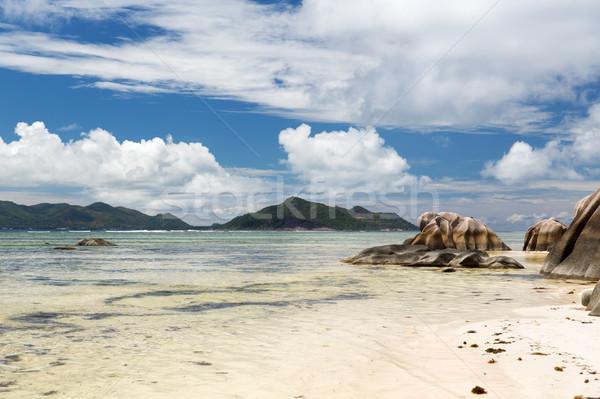 Rocce Seychelles isola spiaggia indian Ocean Foto d'archivio © dolgachov