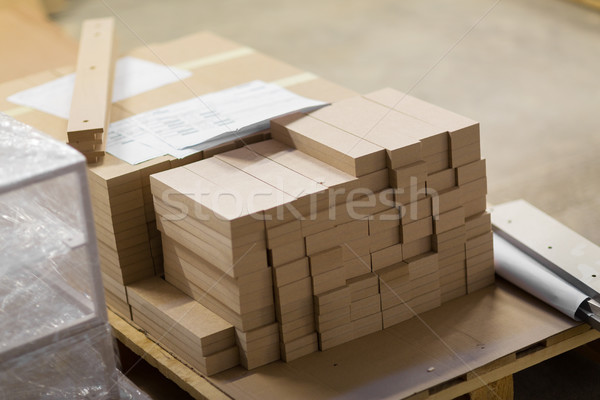 medium density fibreboards at woodworking plant Stock photo © dolgachov