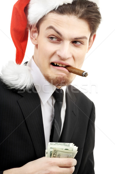bad santa Stock photo © dolgachov