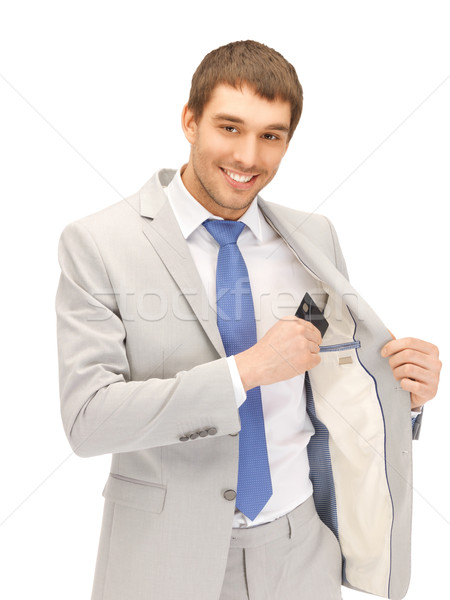 businessman with credit card Stock photo © dolgachov