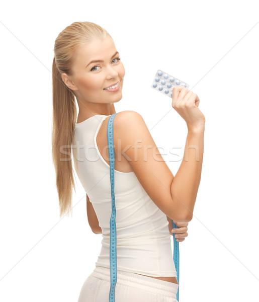 женщину диета таблетки медицина Сток-фото © dolgachov