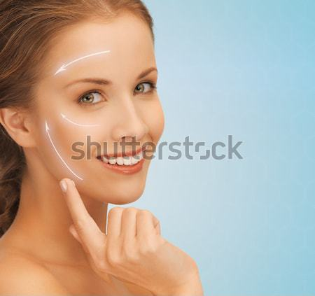 beautiful young woman face Stock photo © dolgachov