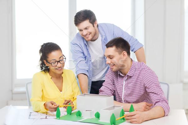 Сток-фото: улыбаясь · рабочих · служба · запуска · образование · архитектура