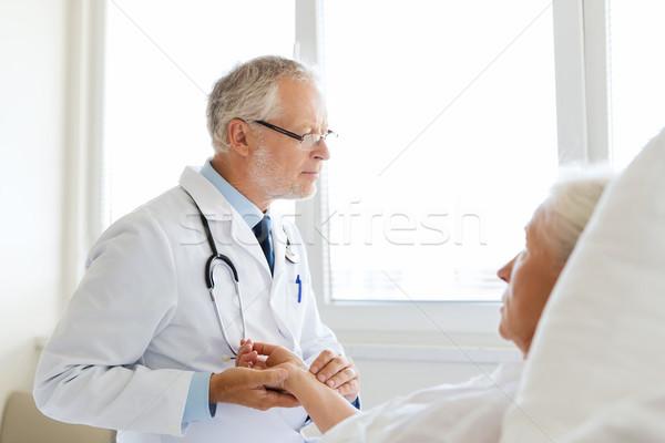 врач старший женщину импульс больницу медицина Сток-фото © dolgachov