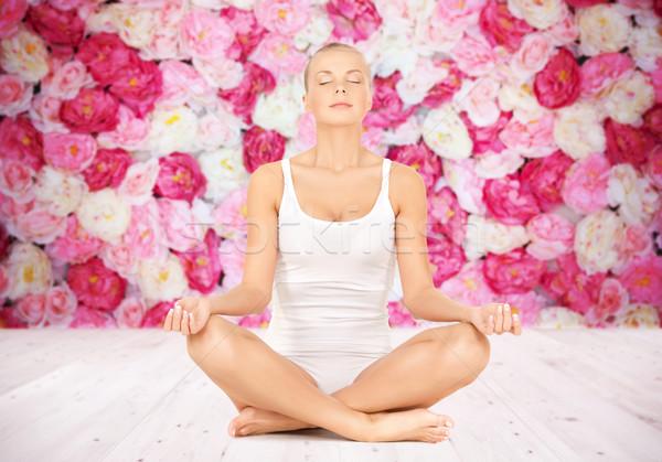 女性 瞑想 ヨガ 蓮 ポーズ 人 ストックフォト © dolgachov