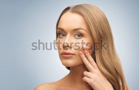 Donna pallido buio fondazione faccia persone Foto d'archivio © dolgachov