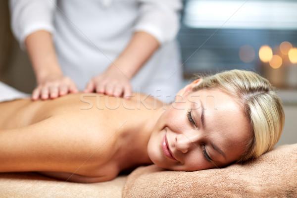 Donna massaggio spa persone Foto d'archivio © dolgachov