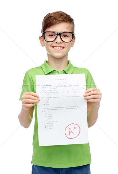 Bril school test gevolg Stockfoto © dolgachov