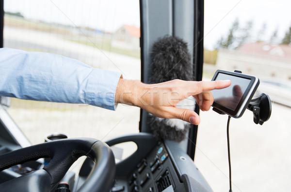 Autobús conductor conducción GPS transporte Foto stock © dolgachov