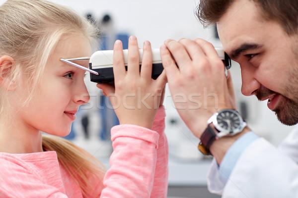 оптик пациент глаза клинике медицина Сток-фото © dolgachov