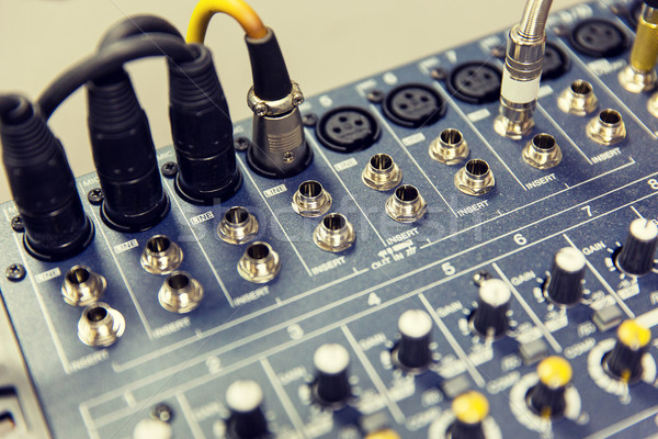control panel at recording studio or radio station Stock photo © dolgachov