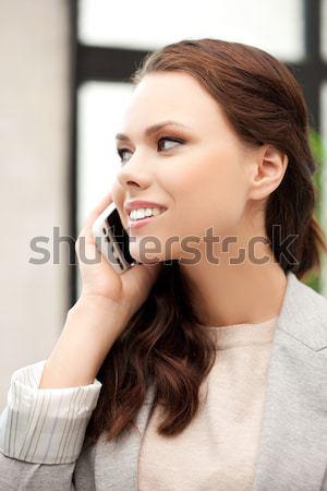 Boldog nők választ fülbevalók ékszerek bolt Stock fotó © dolgachov