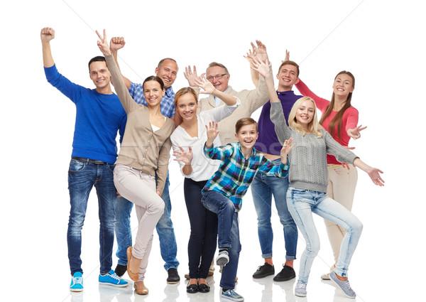 Groupe souriant personnes famille sexe Photo stock © dolgachov