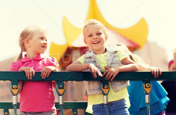 Heureux enfants aire de jeux été enfance Photo stock © dolgachov