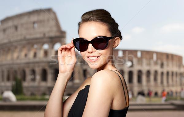 красивой элегантный черный Солнцезащитные очки Сток-фото © dolgachov