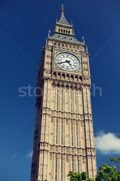 Big Ben relógio torre Londres inglaterra Foto stock © dolgachov