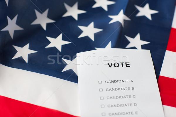 üres szavazócédula szavazás amerikai zászló szavazás választás Stock fotó © dolgachov