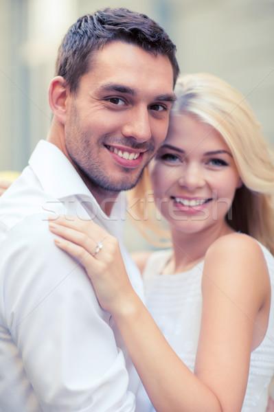 Jonge echtpaar stad zomer vakantie viering Stockfoto © dolgachov