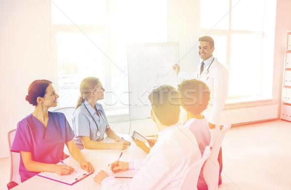 группа врачи презентация больницу медицинской образование Сток-фото © dolgachov