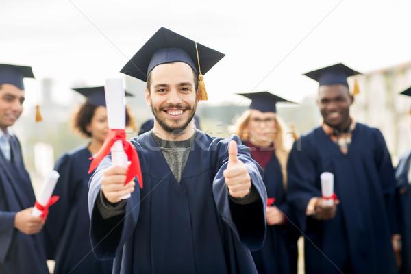 Сток-фото: счастливым · студентов · образование · окончания